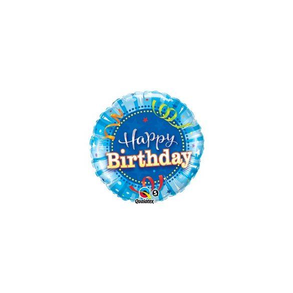 18 inch-es Kék - Birthday Bright Blue Szülinapi Fólia Lufi