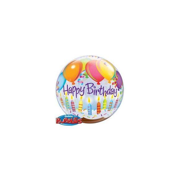 Birthday Balloons & Candles Szülinapi Buborék Lufi, 56 cm