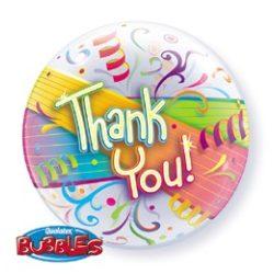 22 inch-es Thank You Streamers - Köszönettel Bubble Lufi