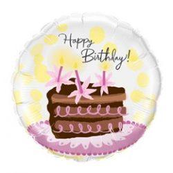 18 inch-es Csokitortás - Birthday Chocolate Cake Slice Szülinapi Fólia Lufi