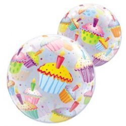 22 inch-es Muffin Mintás - Cupcakes Bubble Lufi