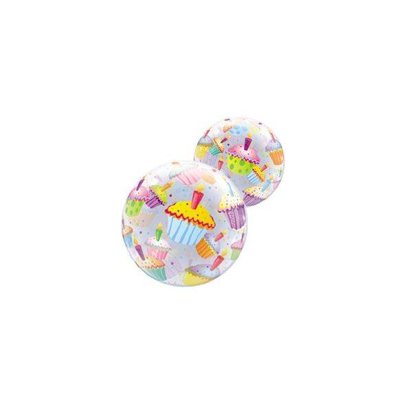 Muffin Mintás Buborék Lufi, 56 cm