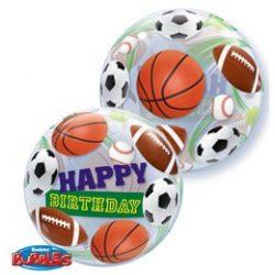 22 inch-es Birthday Sport Ball - Sportlabdás Szülinapi Bubble Lufi