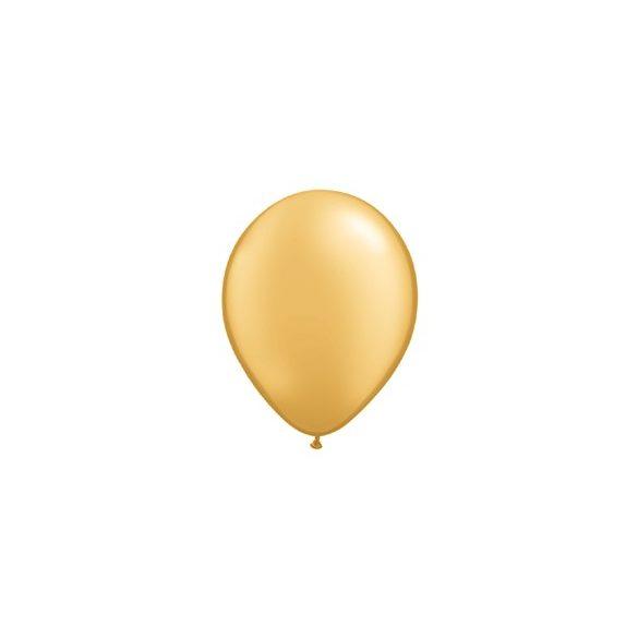 11 inch-es Metallic Gold Kerek Lufi