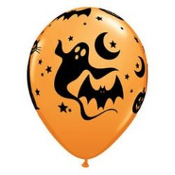11 inch-es Fun and Spooky Icons - Halloween Mintás Lufi