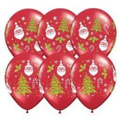 11 inch-es Santa & Christmas Tree Karácsonyi Lufi