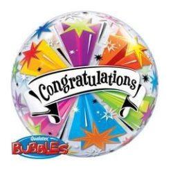 22 inch-es Congratulations Banner - Gratulálunk Bubble Lufi