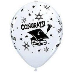 11 inch-es Congrats - You Did It! Ballagási Fehér Lufi