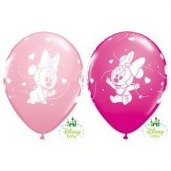 11 inch-es Baby Minnie Hearts Pink & Berry Lufi