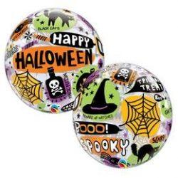 Boldog Halloween - Halloween Mintás Héliumos Buborék Lufi, 56 cm