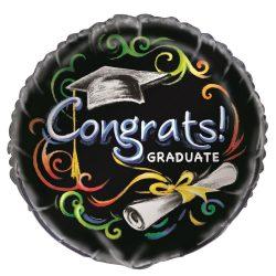 18 inch-es Chalkboard - Congrats Graduate - Ballagási Fólia Lufi p43637