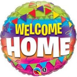 18 inch-es Welcome Home Pennants Fólia Lufi