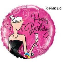 18 inch-es Fekete Ruhás Ünnepi - Birthday Black Dress Szülinapi Fólia Lufi