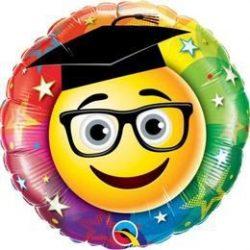 18 inch-es Smiley Graduate Ballagási Fólia Lufi