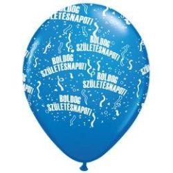 11 inch-es Boldog Születésnapot Dark Blue Lufi (6 db/csomag)