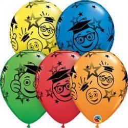 11 inch-es Graduation Smileys Special Assortment Ballagási Lufi