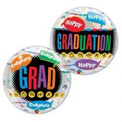 22 inch-es Happy Graduation Congrats Grad Ballagási Bubble Lufi