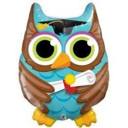34 inch-es Bagoly - Graduate Owl Ballagási Fólia Lufi