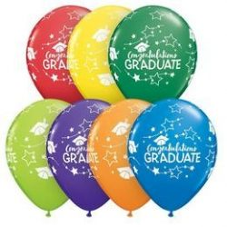 11 inch-es Congratulations Graduate Stars Carnival Assortment Ballagási Lufi