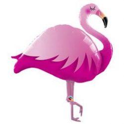 Pink Flamingó Héliumos Fólia Lufi, 117 cm