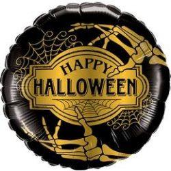 Golden Skeleton Happy Halloween Fólia Lufi
