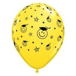 11 inch-es Smile Face Yellow Ballagási Lufi