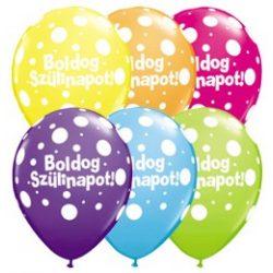 Boldog születésnapot Big Polka lufi 6db/cs