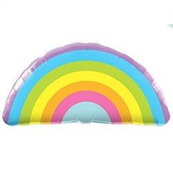Szivárvány - Radiant Rainbow Héliumos Fólia Lufi, 91 cm