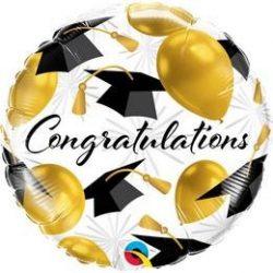 18 inch-es Congratulations Gold Balloons Fólia Lufi q82283