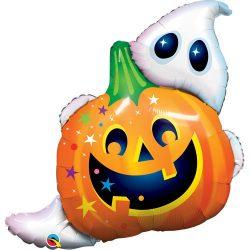 33 inch-es Jack N' Ghost Super Shape Fólia Lufi Halloweenre
