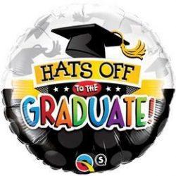 18 inch-es Hats Off To The Graduate! Ballagási Fólia Lufi