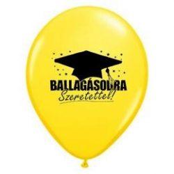 11 inch-es Ballagásodra Szeretettel! - Yellow Ballagási Lufi