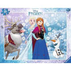 Puzzle 40 db - Jégvarázs Anna és Elsa