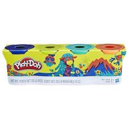 Play-Doh 4 db-os gyurmakészlet, a vadon színei