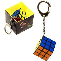 Rubik bűvös kocka 3x3 kulcstartó