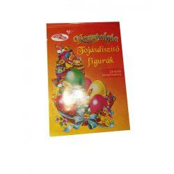 Húsvéti tojásdíszítő matricák 24 db levonó matrica