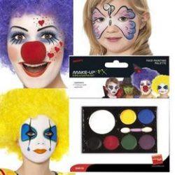 Hétszínű arcfesték szivaccsal 6 x 0,4g és 1 x 2,6g