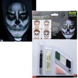 Sötétben Világító Csontváz Arcfestő Make Up Készlet